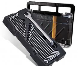 Caixa Organizadora com jogo de chaves combinadas anguladas em milimetros